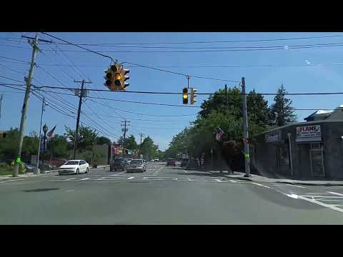 Driving from Amityville to Copiague on Suffolk,New York