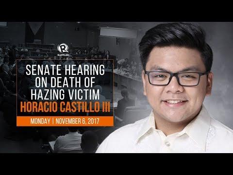 LIVE: Senate hearing on death of hazing victim Horacio Castillo III
