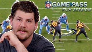 Taylor Lewan Breaks Down Blocking the Watt's, Proper O-Line Technique, & More! | NFL Film Session
