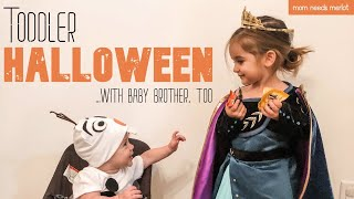 HALLOWEEN at Home with a TODDLER & BABY | 2020 | Pumpkins, Cookies and 'Frozen' Costumes Galore