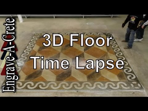 Engrave A Crete 3d Floor Time Lapse Decorative