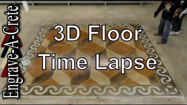 engrave-a-crete 3d floor | time lapse | decorative concrete