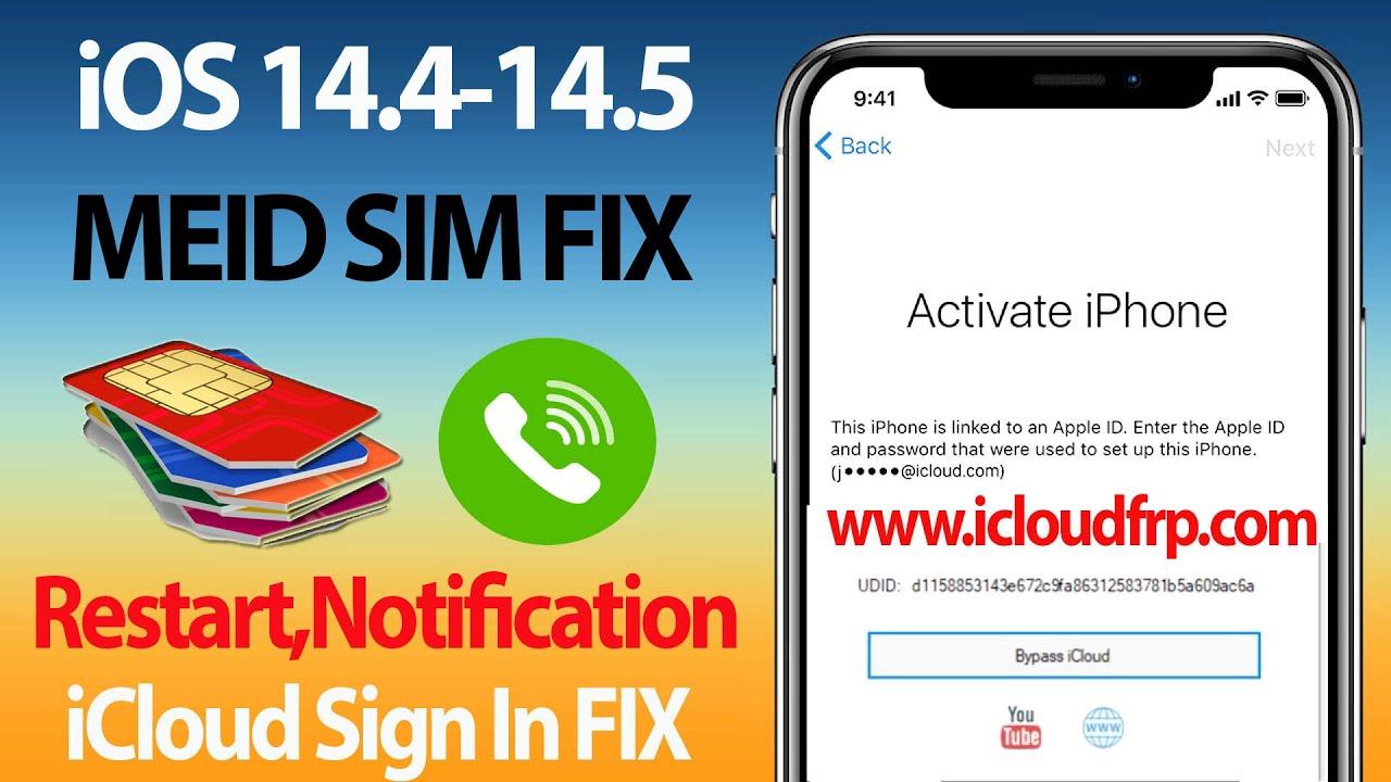 March 2021 GSM-MEID SIM FIX ICLOUD LOCK,Notifications,Restart,iCloud Sign In Lifetime FIX,Any iOS