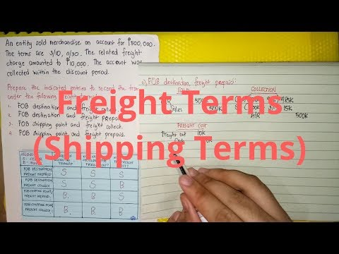 Accounts Receivable - Accounting for Freight Costs/Shipping Costs
