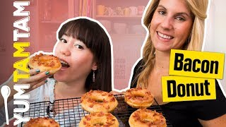 DONUT mit BACON-Topping? // Bacon-Donut mit Ahornsirup-Glasur // #yumtamtam