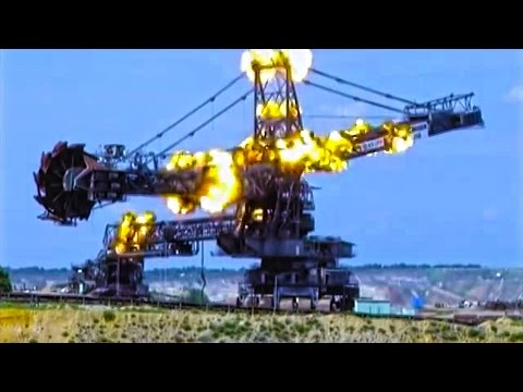 Giant Bucket Wheel Excavator Gets Blown Up In Spectacular Demolition