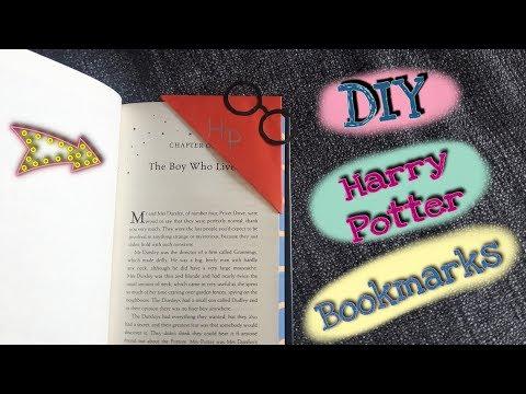 Harry Potter Bookmarks DIY ~ Quick & Easy Corner Bookmarks Harry Potter Edition Tutorial