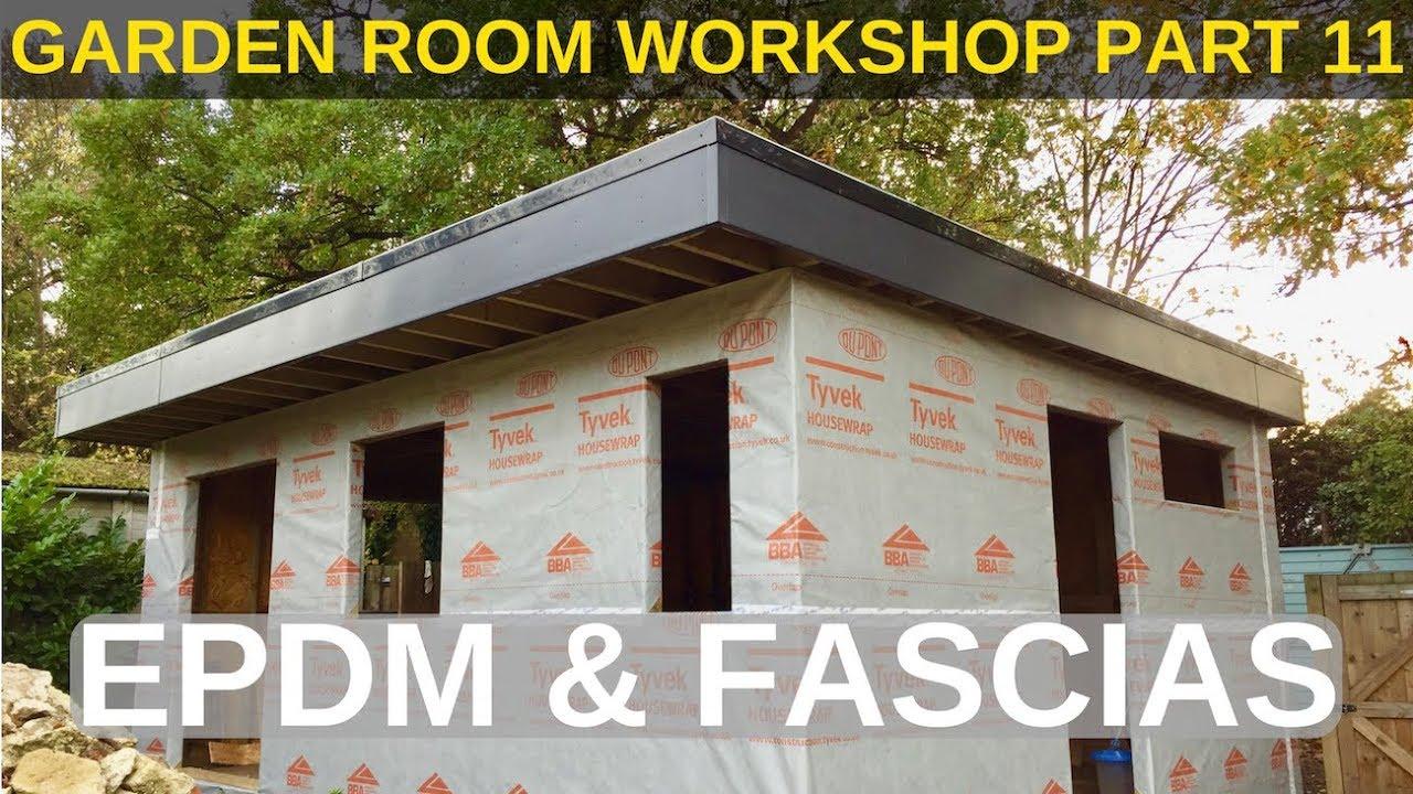 Garden Room Workshop Part 9 Flat Roof Structure Youtube