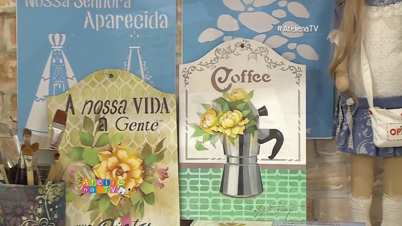Artesanato Com Madeira ~ Ateli u00ea na TV Rede Vida 13 03 2017 Mayumi Takushi YouTube