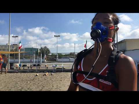 Training and gas exchange tests for athletes of the Japanese female beach volley national team