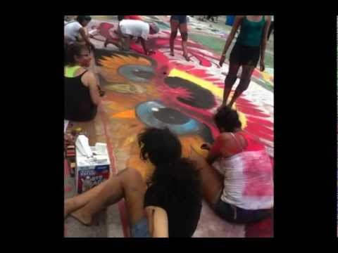 South Tech Academy Commercial Arts Students go BIG at the Lake Worth Street Painting Festival.