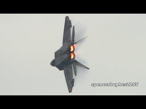 F-16 Viper Demo & F-22 Raptor Demo Chicago Air & Water Show 2019
