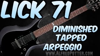 Lick #71 -  Diminished Tapped Arpeggio + TAB
