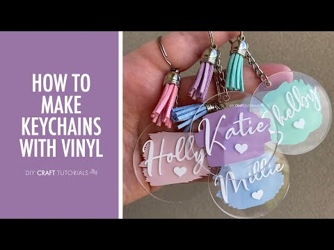 ACRYLIC KEYCHAIN TUTORIAL CRICUT  |  How to make keychains with Cricut from start to finish