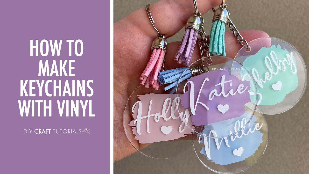 Acrylic Keychain Tutorial Cricut How To Make Keychains With Cricut From Start To Finish Youtube