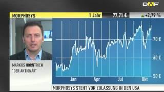 """DER AKTIONÄR-TIPP: Morphosys - """"Nur Wachstum möglich"""" / Euro - """"Müssen uns auf Parität eintsellen"""""""