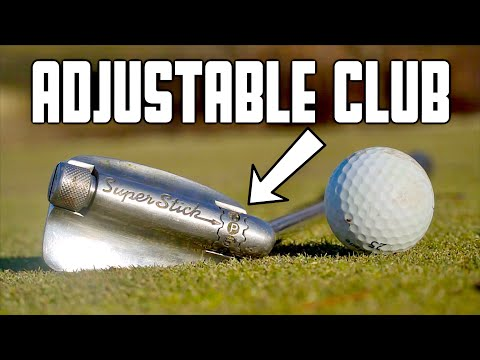 Playing Golf With An Adjustable Club (Every Club In 1)   GM GOLF