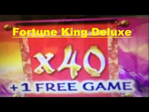 ★$UPER MEGA BIG WIN☆Holy X 40 ! The Power Of X 40 ! ★FORTUNE KING DELUXE Slot Machine $1.80 /$3.00 栗