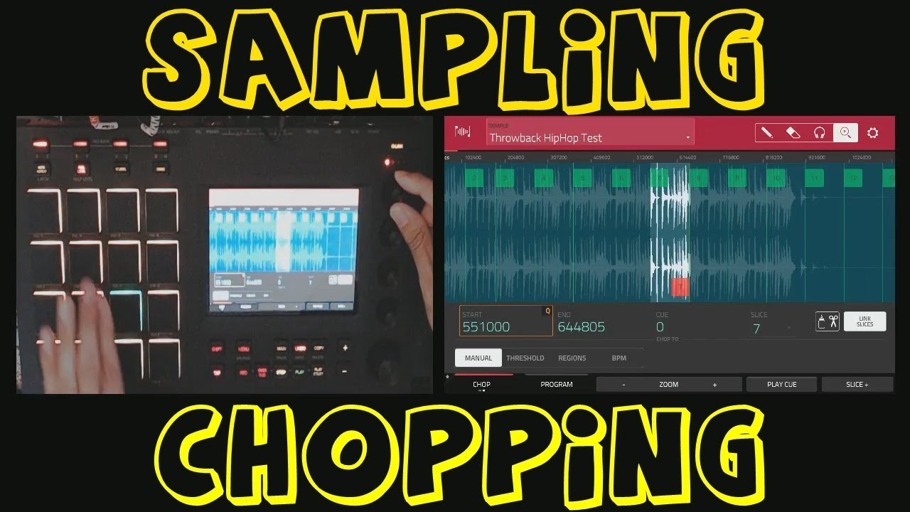 AKAI MPC TOUCH & 2 2 Software Sampling & Chopping