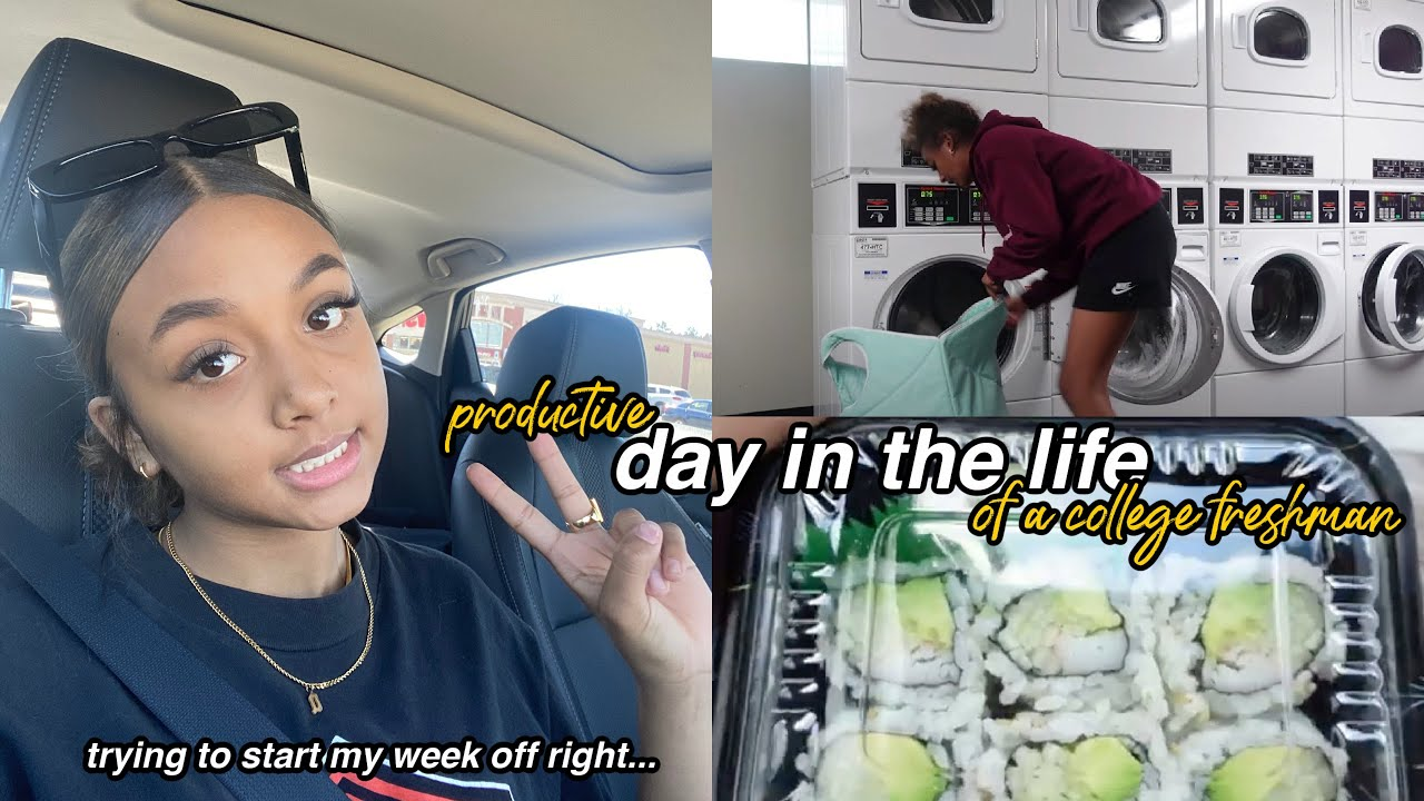 vlog: a somewhat productive day in my life *laundry, homework & sushi* | LexiVee