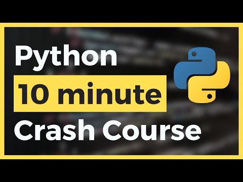 Learn Python in Less than 10 Minutes (Crash Course)