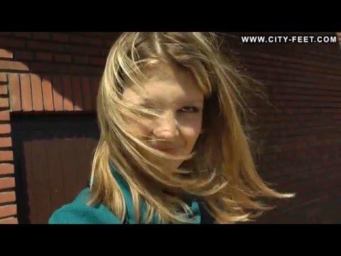 City-Feet.com - Blonde in blue dress - Ekaterina [1] ▶8:26