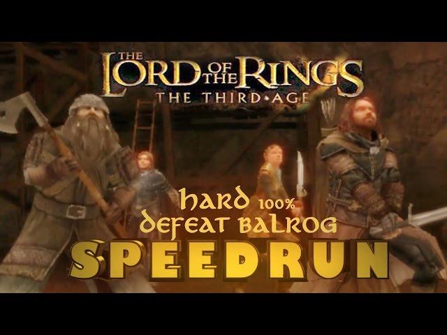 LOTR The Third Age: Speedrun Eregion, West, East Moria Hard 100% (3:09:13)