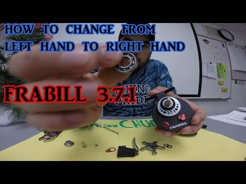 FRABILL 3.7.1/how to change from left hand to right hand/ICE FISHING REEL