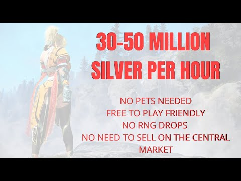 Black Desert Online Xbox One/PS4   30-50 Million Per Hour   No Gear, Pets or RNG Drops just Silver!
