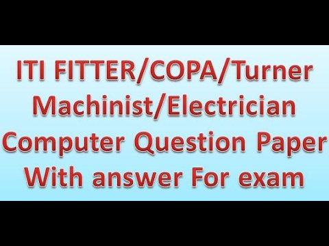 iti all trades computer question paper with solve answer sem1 2 3 4