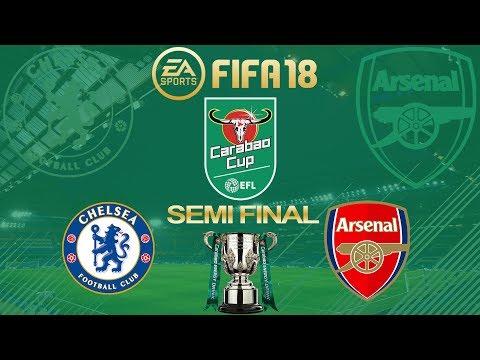 FIFA 18 Chelsea vs Arsenal   Carabao Cup Semi Final 2017/18   PS4 Full Match