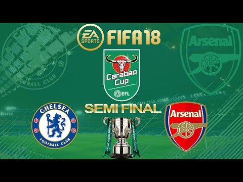 FIFA 18 Chelsea vs Arsenal | Carabao Cup Semi Final 2017/18 | PS4 Full Match