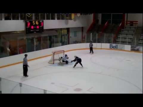 Slowest Penalty Shot Goal EVER, Aaron Merrick Jr.B Delta Ice Hawks