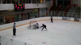 Slowest Penalty Shot Goal EVER, Aaron Merrick Jr.B Delta Ice Hawks