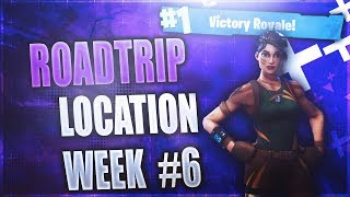 Secret Week 6 Battlestar location! (Roadtrip #6) Fortnite Week 6 Challenges Season 5