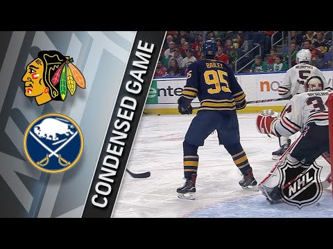 03/17/18 Condensed Game: Blackhawks @ Sabres