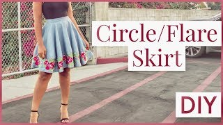 How To Make a Circle Skirt |NO PATTERN NEEDED!
