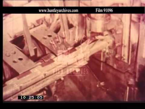 Uranium fuel rods at Windscale.  Film 91096