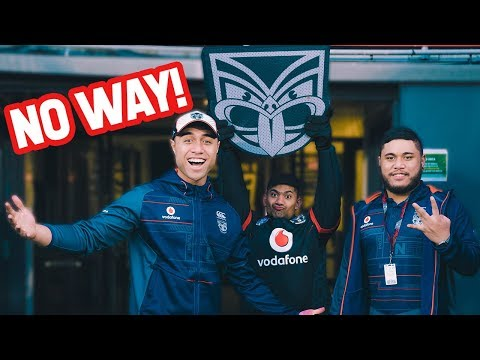 New Job: The NZ Warriors Mascot | Cougar Boys