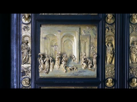 """Ghiberti, """"Gates of Paradise,"""" east doors of the Florence Baptistery"""