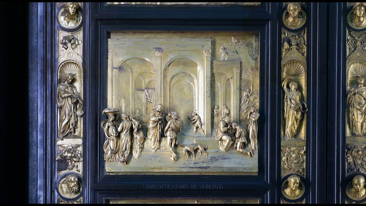 Ghiberti \ Gates of Paradise\  east doors of the Florence Baptistery - YouTube & Ghiberti \