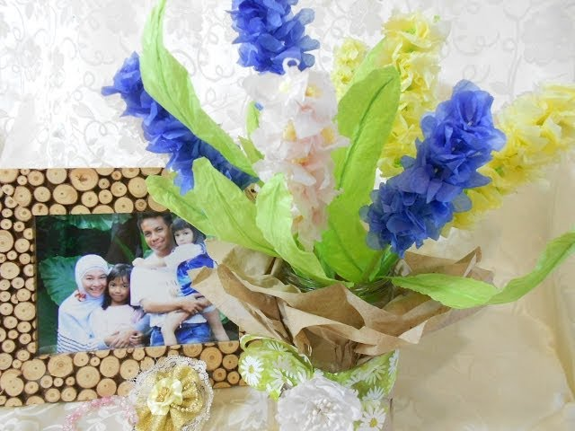 How to Make Hyacinth Paper Flower - Room Decoration Travel Video