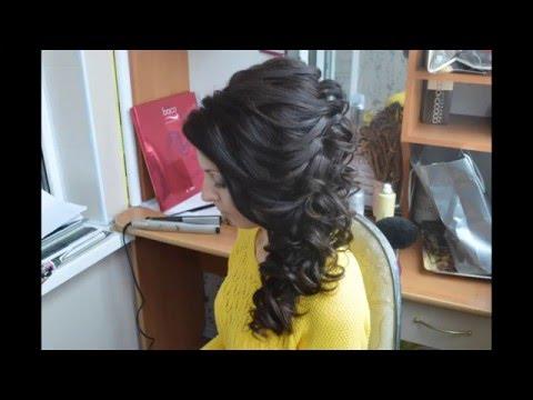 Wedding hairstyle to the side from Inessa Myatenko. Свадебная прическа на бок.