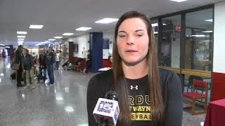 Maggie Castleman full interview on signing with PFW Volleyball on 11/13/19