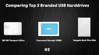 Comparing Top 3 External USB Hard Drive | WD VS Transcend VS Seagate 1TB USB 3.0