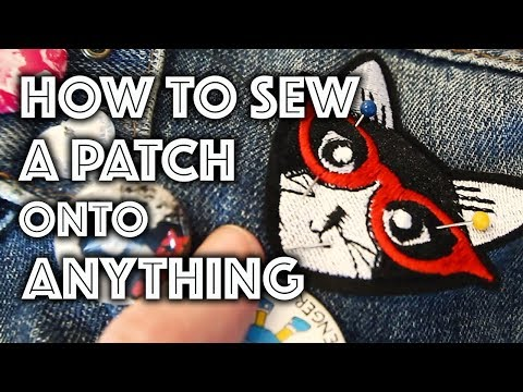 How to Sew a Patch Onto Anything | Sew Anastasia - YouTube