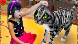 МИЛЫЙ КОТЕНОК Мой любимый кот Видео Игра мультфильм для детей Мультик про котят CatHotel Валеришка
