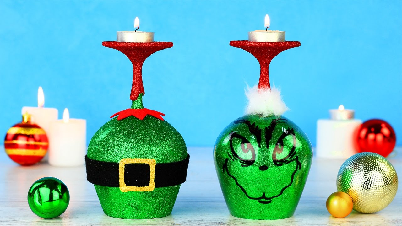 diy grinch christmas decorations youtube