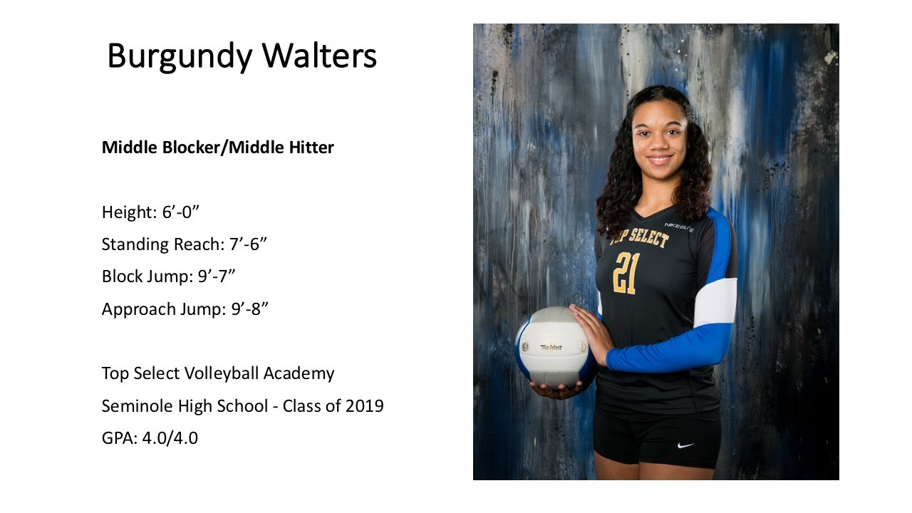 Burgundy Walters S Women S Volleyball Recruiting Profile