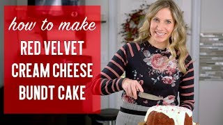 How to make RED VELVET CREAM CHEESE BUNDT CAKE {Recipe Tutorial}